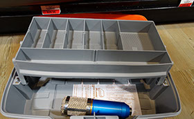 Voice Over Microphone in a Tackle Box